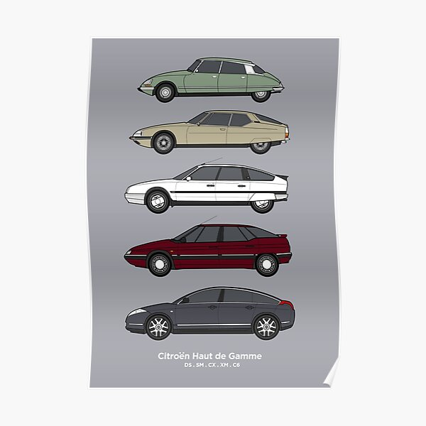 Citroen Haute de Gamme Classic Car Collection (vr2) Poster