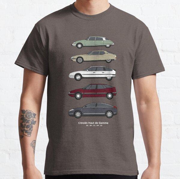 et le Traction avant a été remplacé par le SM et le premier modèle CX remplacé par un S2 GTI Turbo 2.  Grande illustration pour tous les amateurs de Citroën!  Des illustrations de style similaire pour les voitures classiques Peugeot et Renault Haut d T-shirt classique