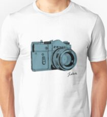 Blueish Russian Camera Unisex T-Shirt