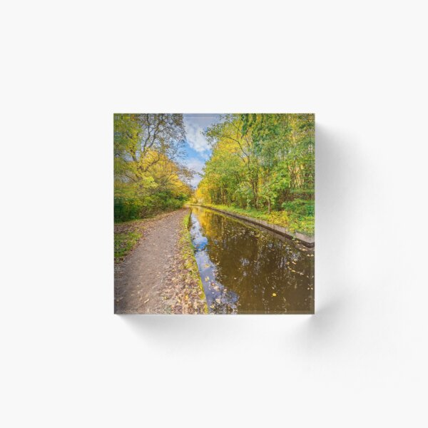 Llangollen Canal Autumn Acrylic Block