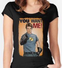 Captain Hammer - You Want Me Women's Fitted Scoop T-Shirt