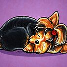 Yorkie Sleeping Babe by offleashart