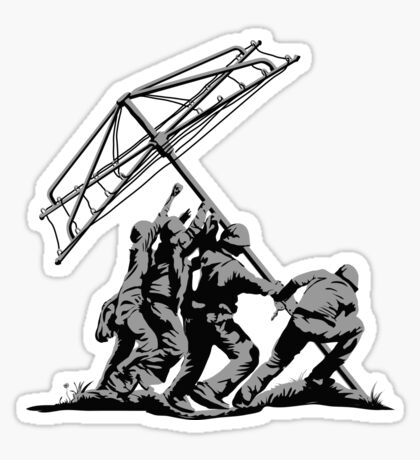 Raising the Line Sticker