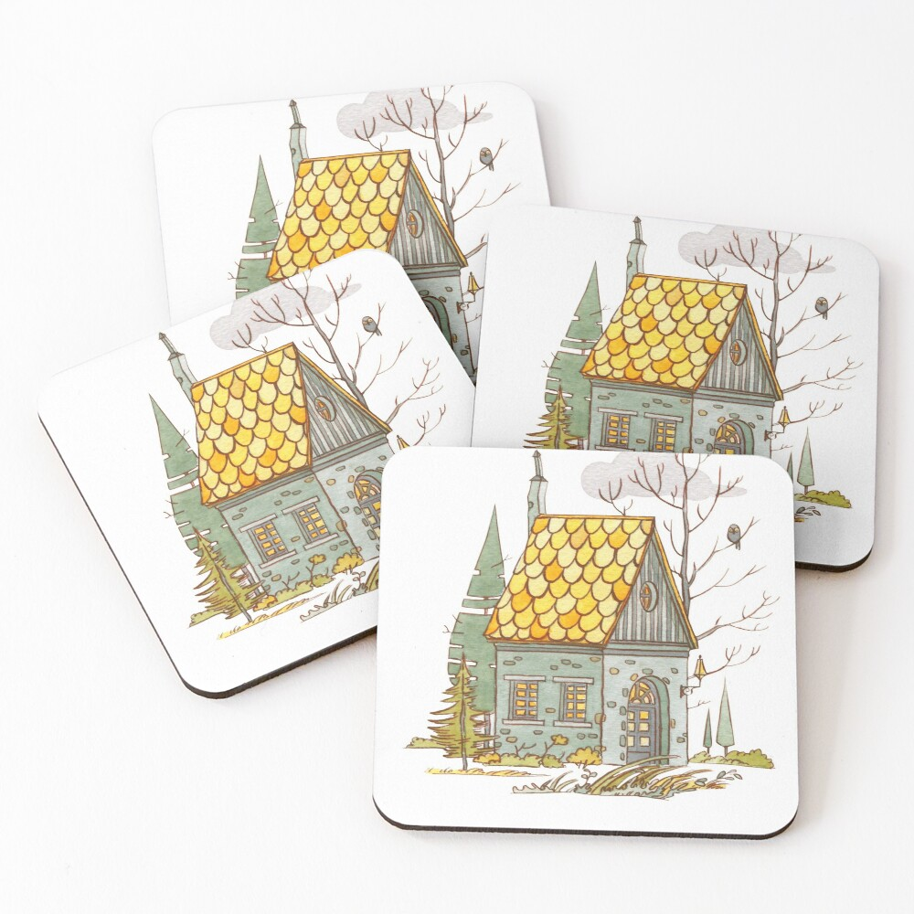 Forest House Coasters (Set of 4)