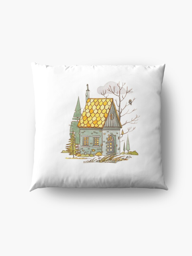 Alternate view of Forest House Floor Pillow