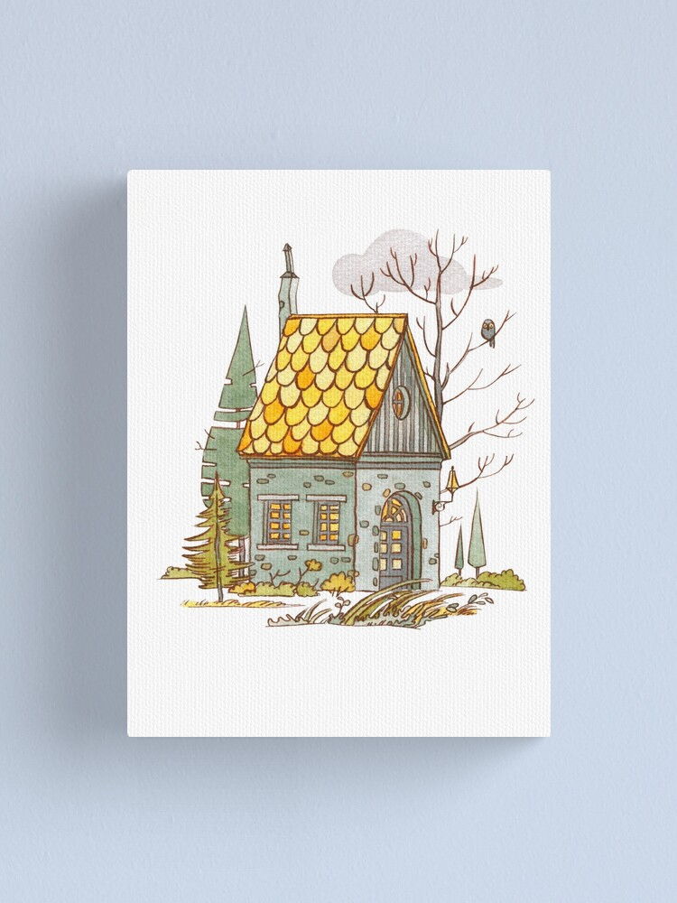 Alternate view of Forest House Canvas Print