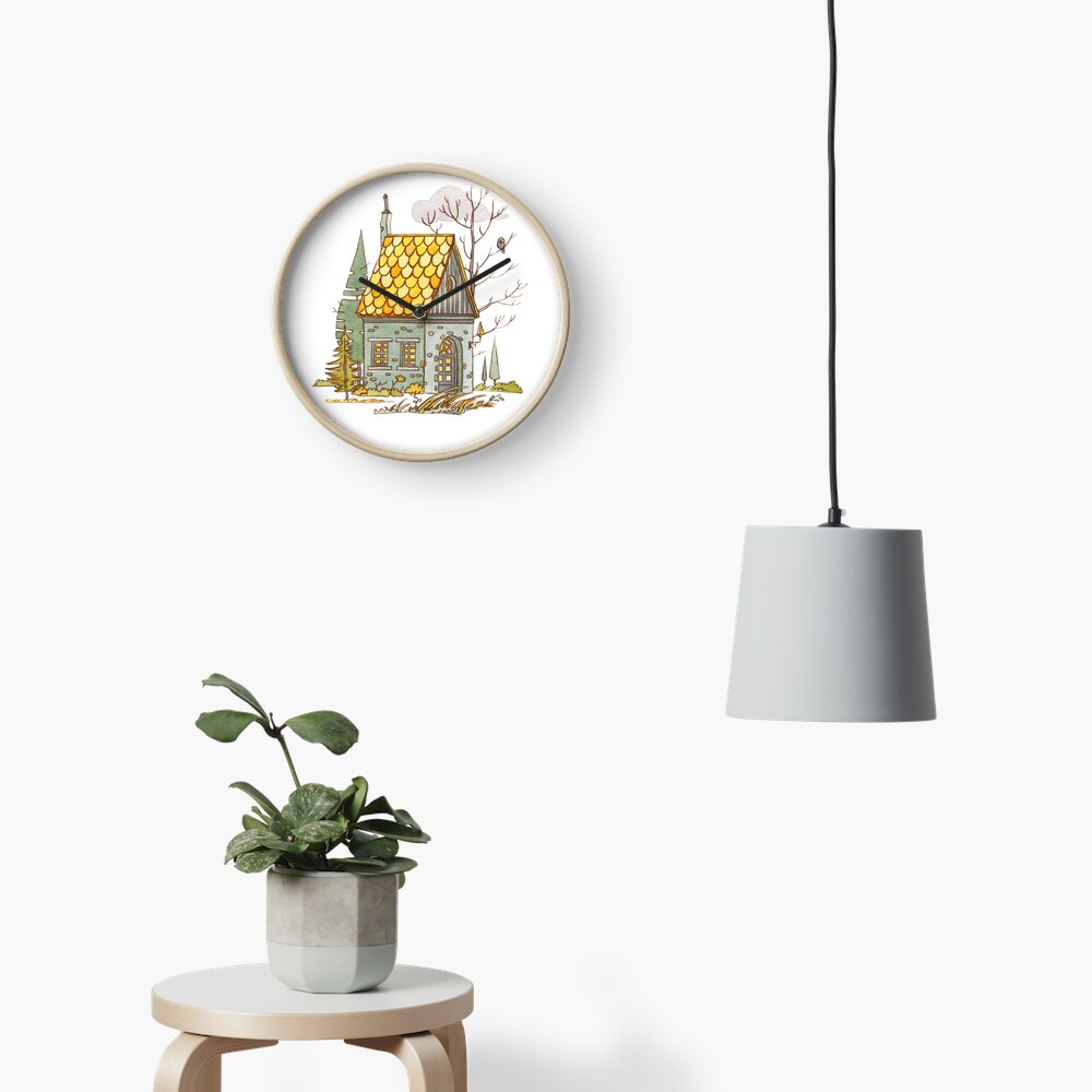 Forest House Clock