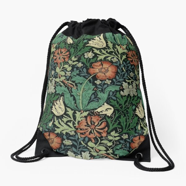 Motif floral Art Nouveau William Morris Compton Sac à cordon