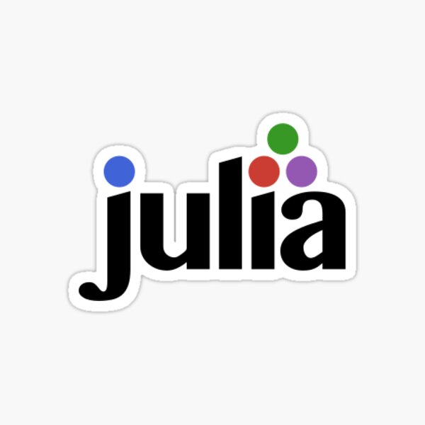 Julia Language logo Sticker