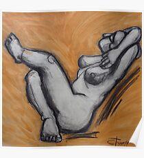 Sunbathing Nude 1  Poster