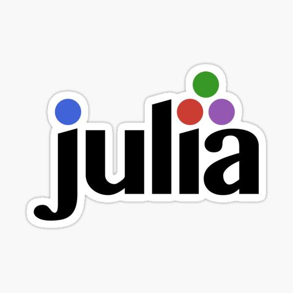 Large Julia Logo Sticker