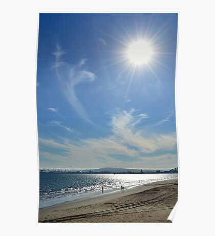 Sunny Beach Day Poster