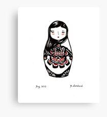 Inuit Matryoshka Canvas Print
