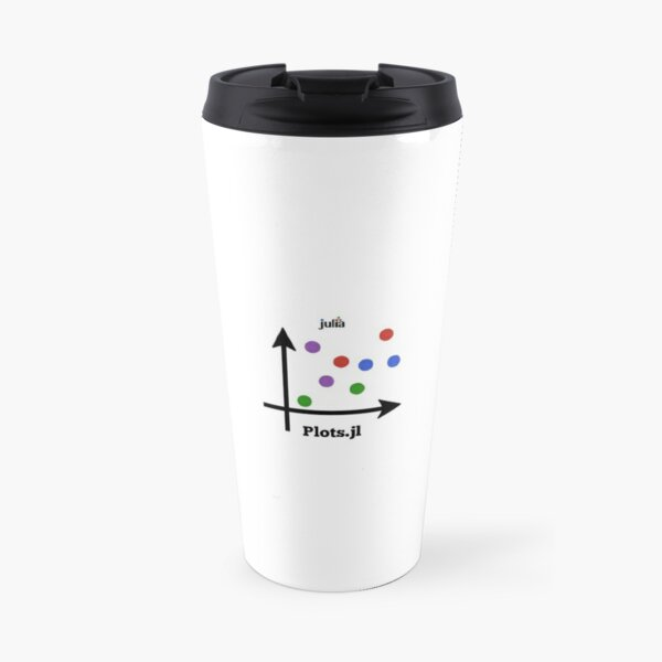 Plots.jl logo Travel Mug