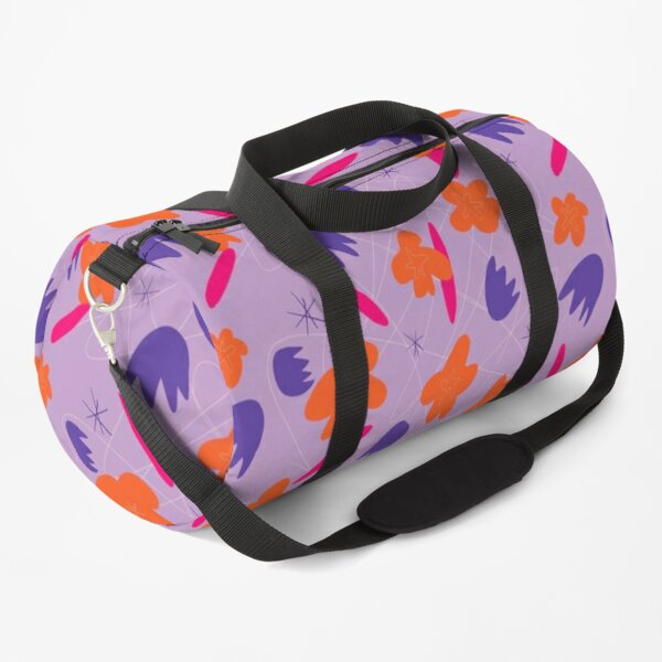 Flower Petal Pattern Party, Abstract Summer Shapes Duffle Bag