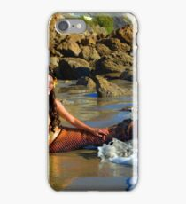 Flipping Her Fins - Square iPhone Case/Skin