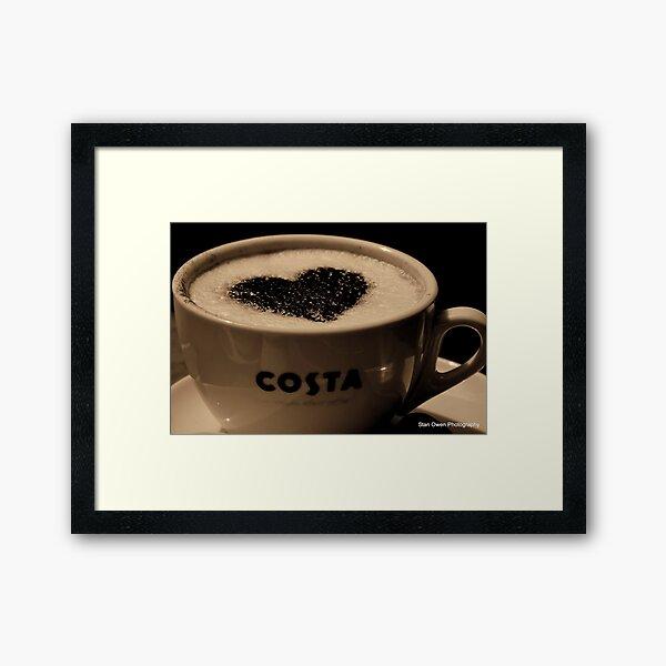 Love Coffee. Framed Art Print