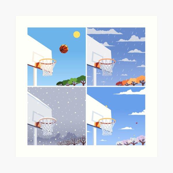 Basketball Seasons Art Print