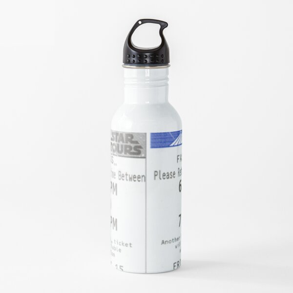 Space Mountain and Star Tours Fastpass Water Bottle