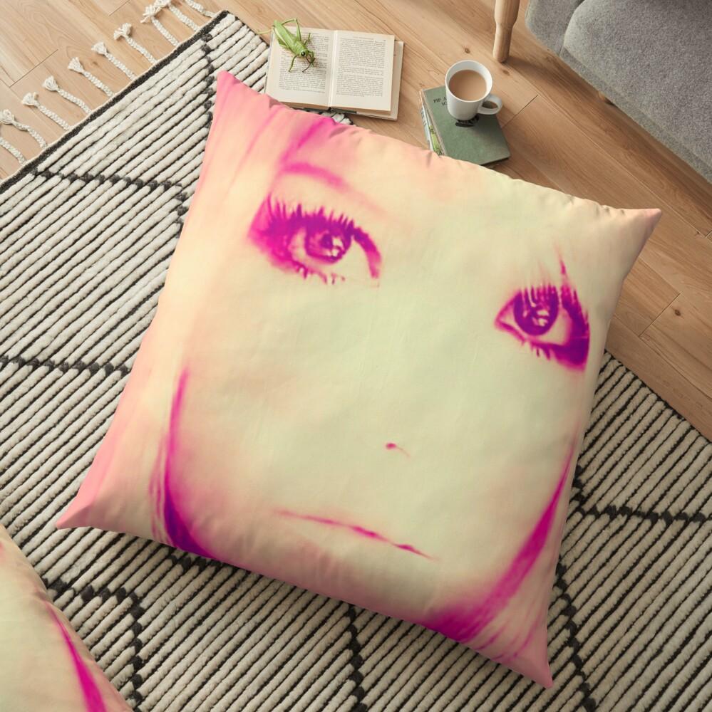 Sunset Eyes  Floor Pillow