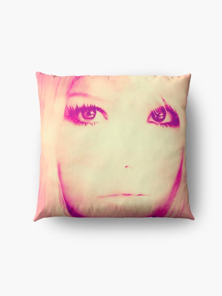 Alternate view of Sunset Eyes  Floor Pillow