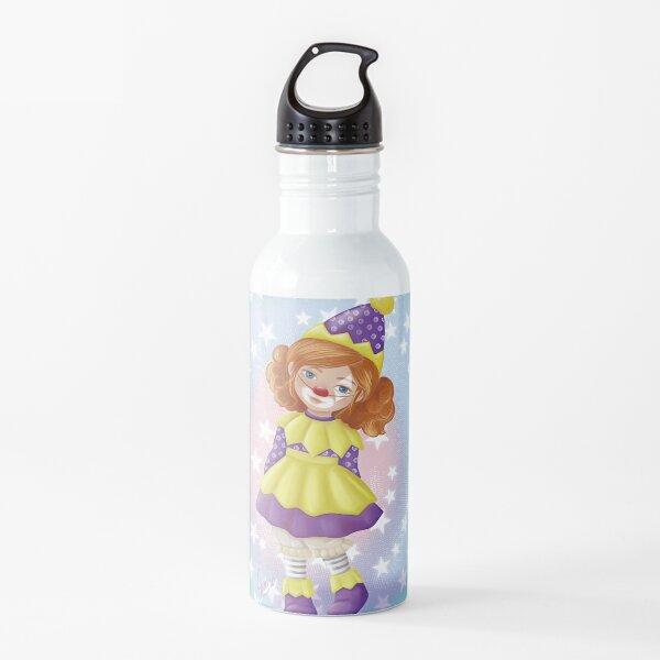 Niña disfrazada de payaso Botella de agua