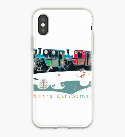 Happy Christmas for train lovers  iPhone Case