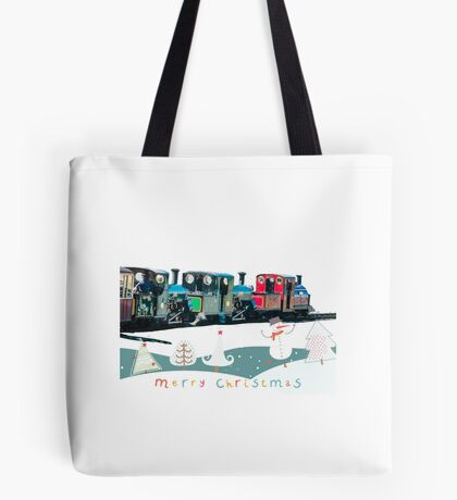 Happy Christmas for train lovers  Tote Bag