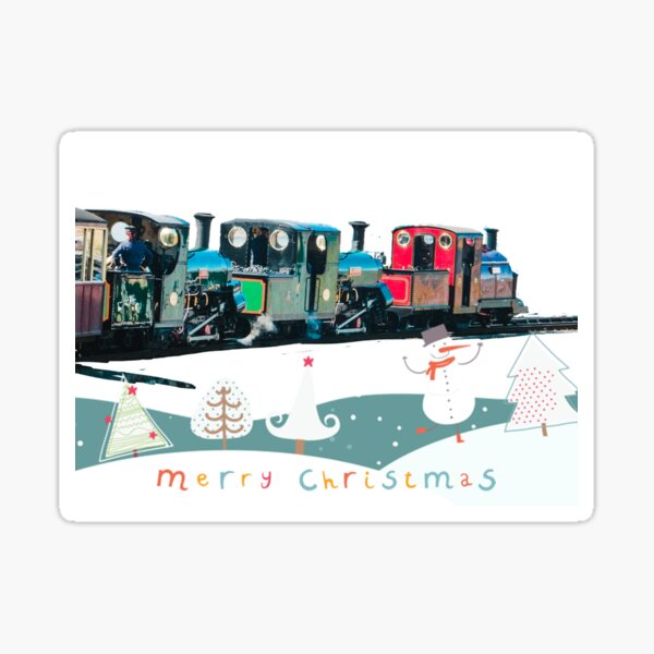 Happy Christmas for train lovers  Sticker