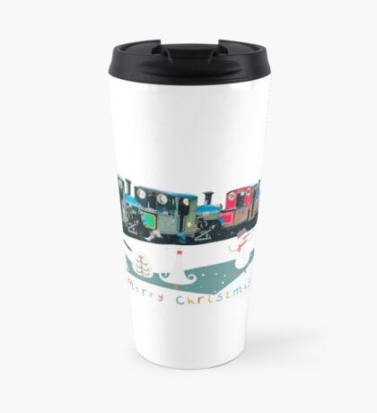 Happy Christmas for train lovers  Travel Mug
