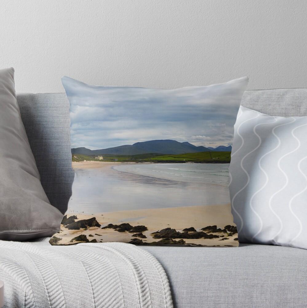 Balnakeil Beach Panorama Throw Pillow