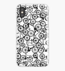 Pile of Black Bicycles iPhone Case