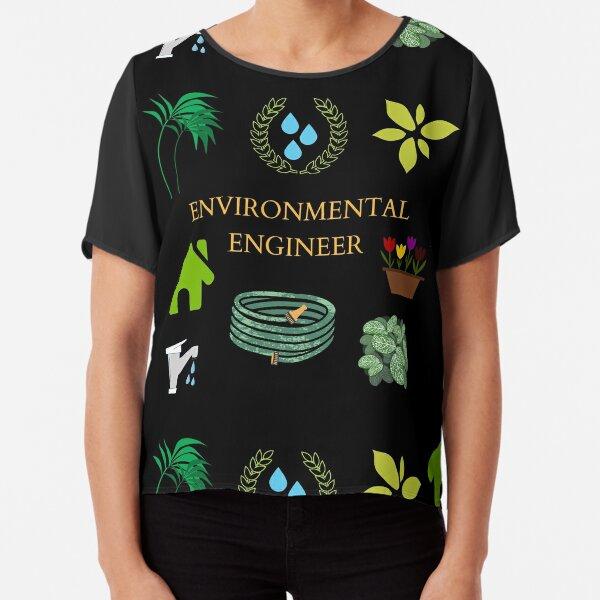 Environmental ENGINEER Chiffon Top
