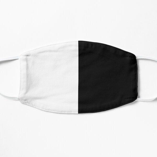 half white half black Flat Mask