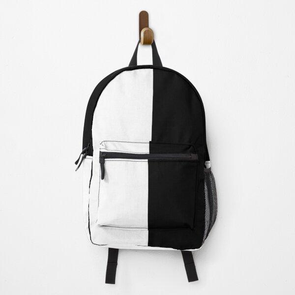 half white half black Backpack