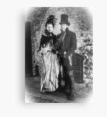 Victorian Couple Metal Print