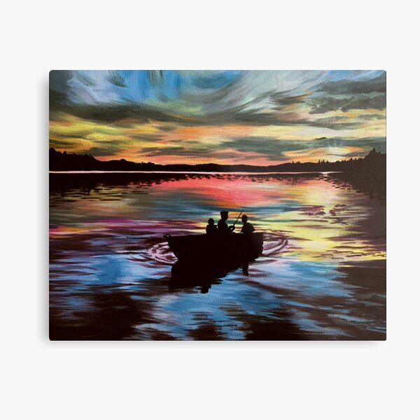 A Day of Fishing Metal Print