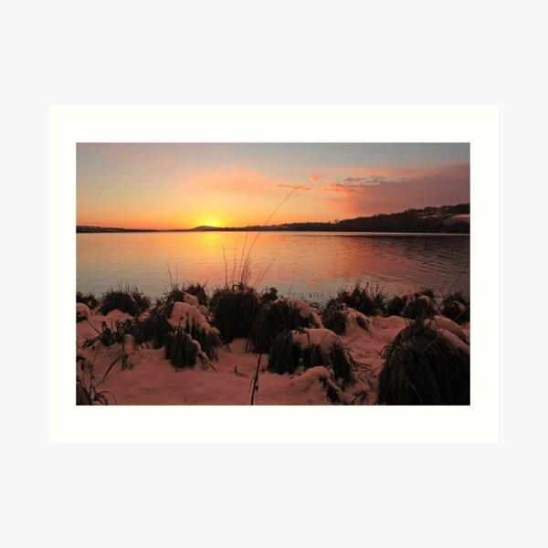 Sunset On The Foyle Art Print