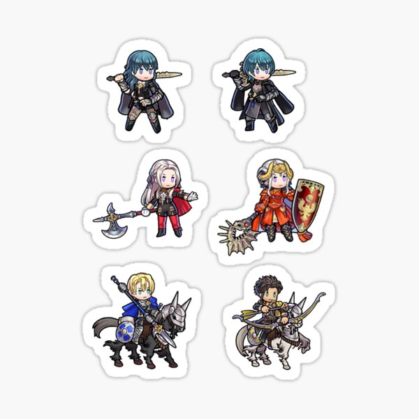 Fire Emblem Three Houses Leaders et Byleth Sticker