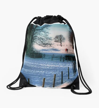 The Snow Fields Drawstring Bag