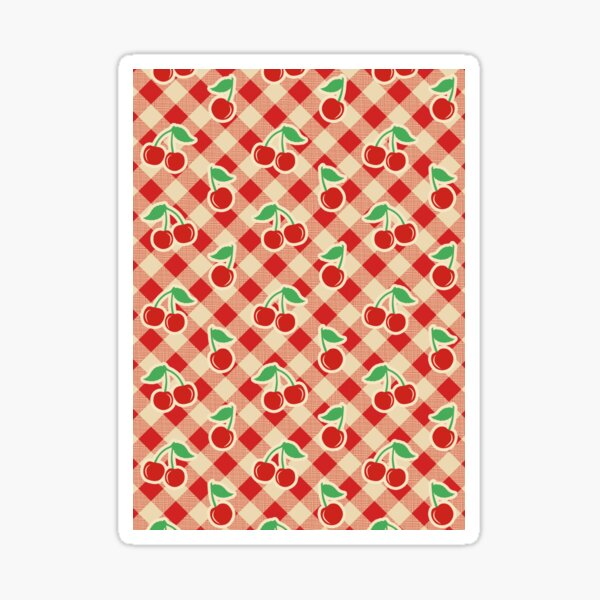 Cherry Tablecloth Vintage Pinup Picnic Sticker