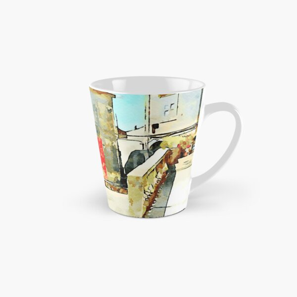 Tortora glimpse with Italian flag painted on the wall of building  Tall Mug