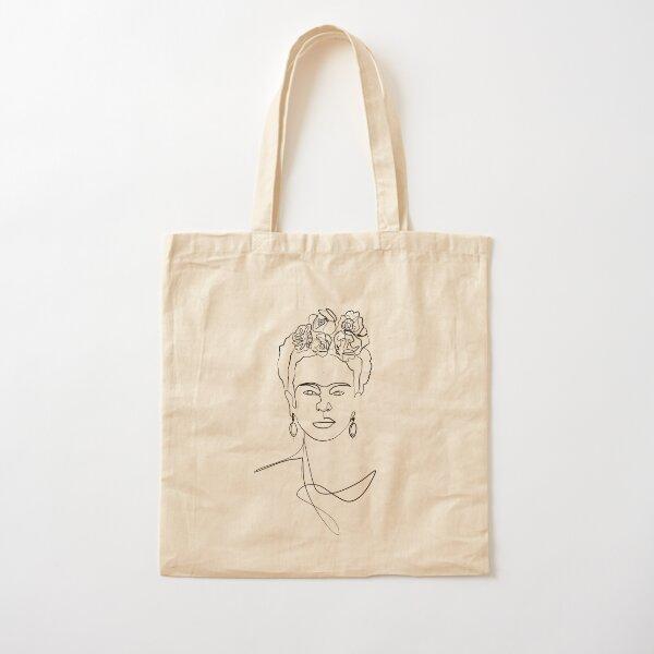 Frida Kahlo - Portrait de visage Tote bag classique