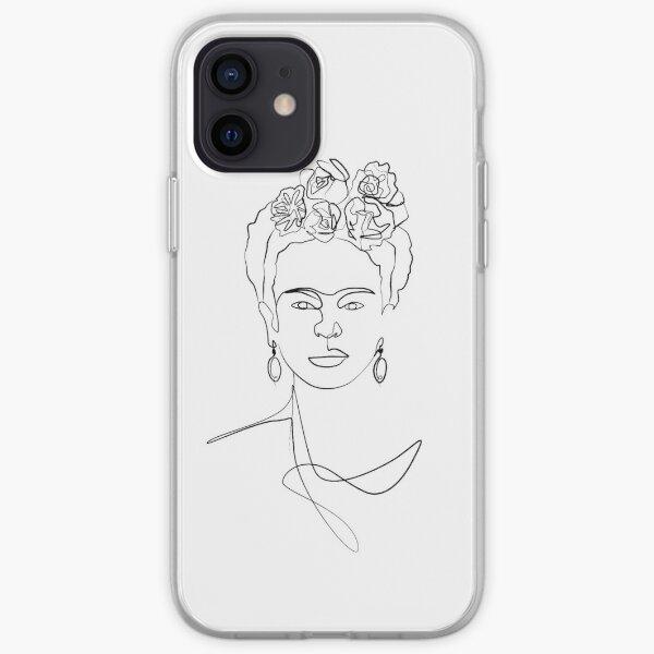 Frida Kahlo - Retrato de rostro Funda blanda para iPhone