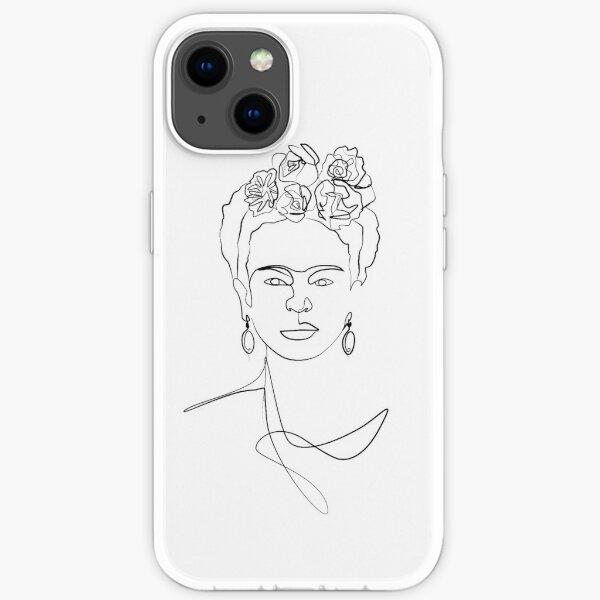 Frida Kahlo - Portrait de visage Coque souple iPhone