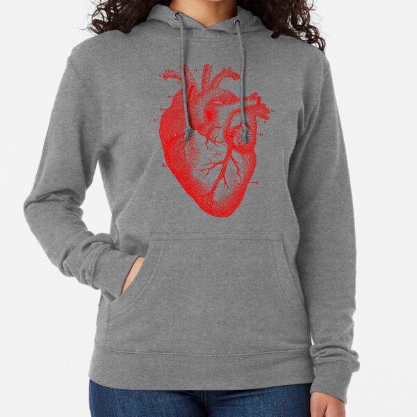 Oversized Anatomical Heart T-Shirt Lightweight Hoodie