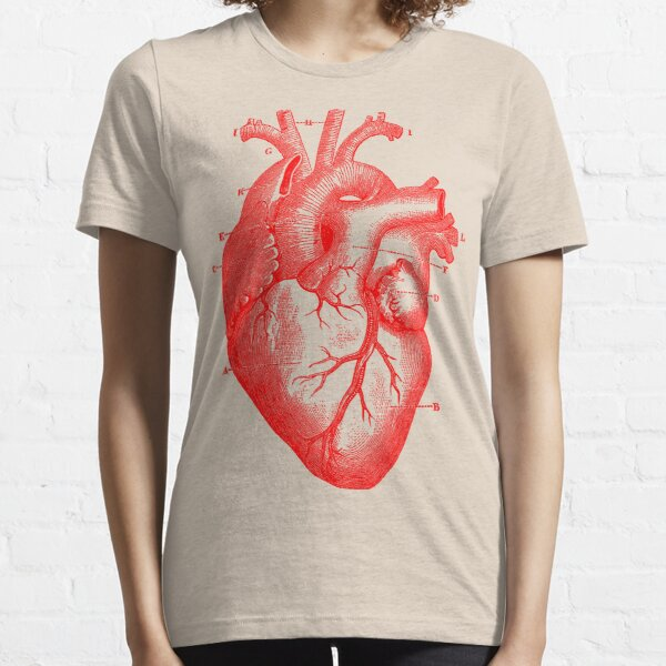 Oversized Anatomical Heart T-Shirt Essential T-Shirt