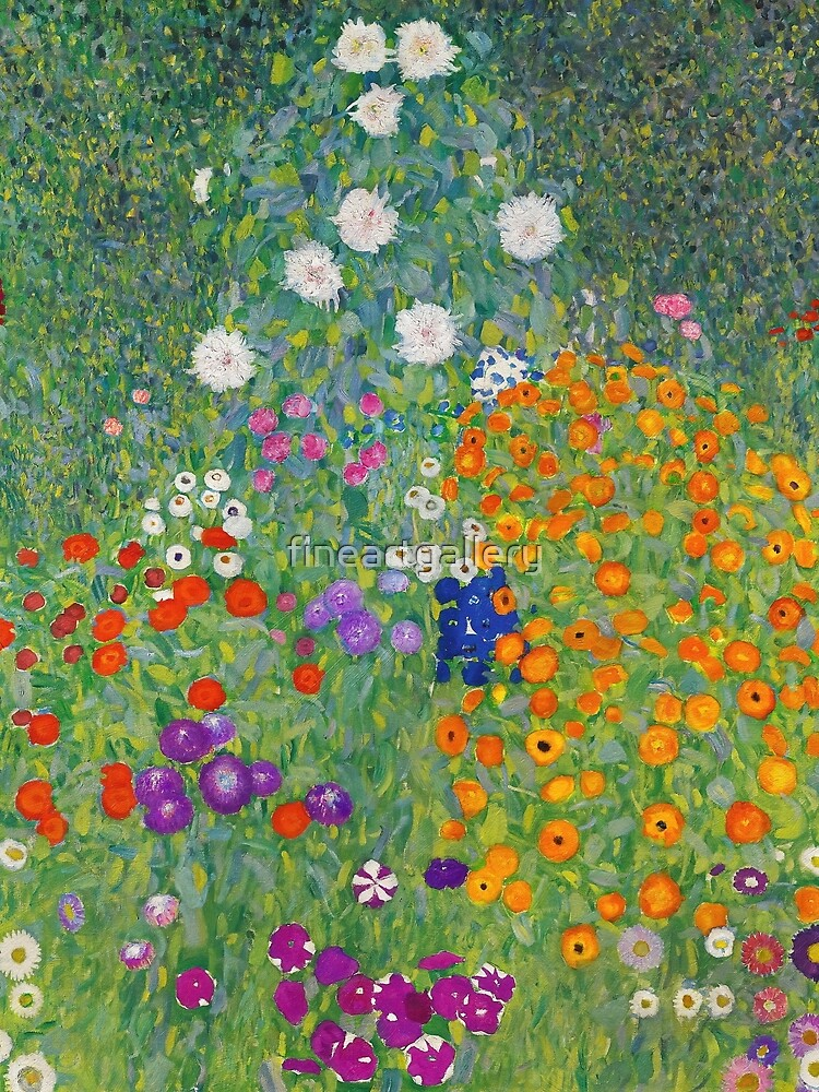 Gustav Klimt Flower Garden by fineartgallery