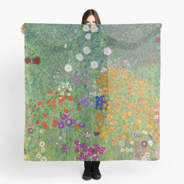 Gustav Klimt Flower Garden Scarf