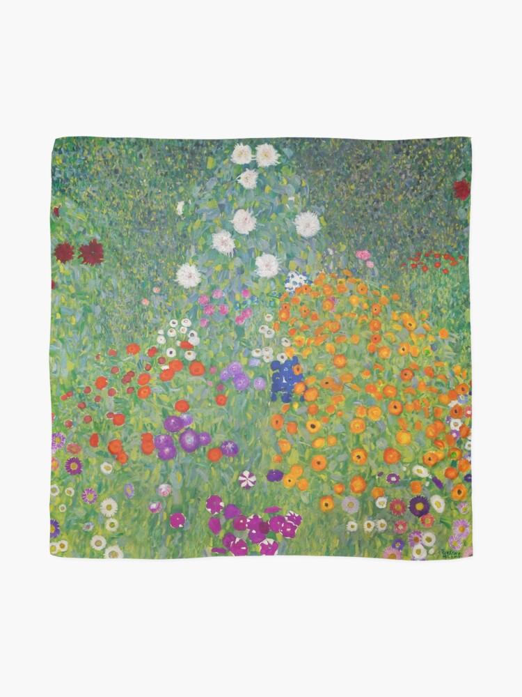 Alternate view of Gustav Klimt Flower Garden Scarf